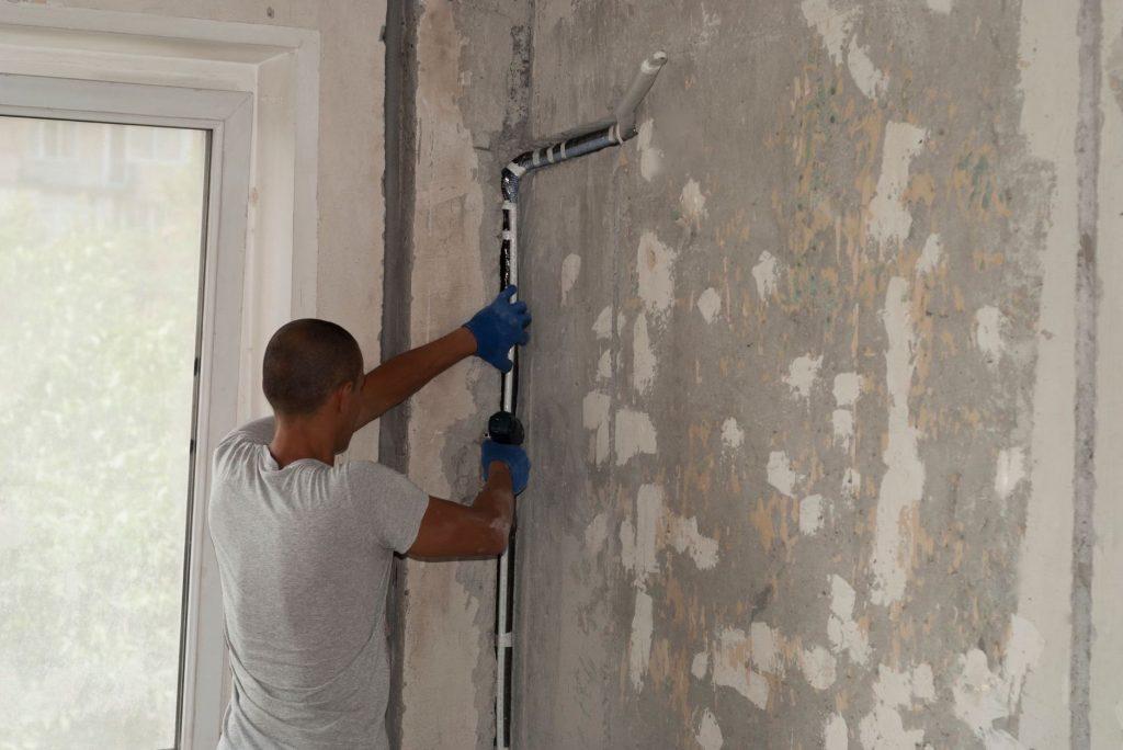 Predpríprava na montáž klimatizácie do bytu či domu.